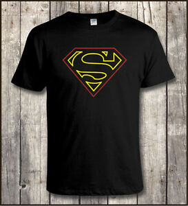 Superman Insignia Neon Sign Style T Shirt All Sizes To 5xl Ebay