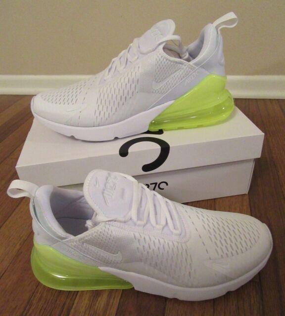 huge selection of 7e69e d3067 Nike Air Max 270 Size 11.5 White White Volt AH8050 104 Brand New In Box NIB