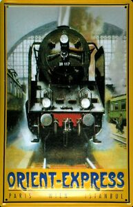 Orient Express Motiv 2 Blechschild Schild 3D geprägt gewölbt Tin Sign 20 x 30 cm