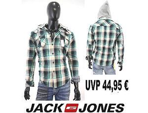 Jack-amp-Jones-Hemd-tokyo-Herren-Pullover-shirt-zu-jeans-branco-vintage-hoodie