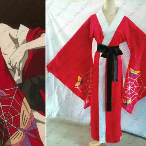 lack Butler Ciel Phantomhive Alois Trancy Red kimono Cosplay Costume~~