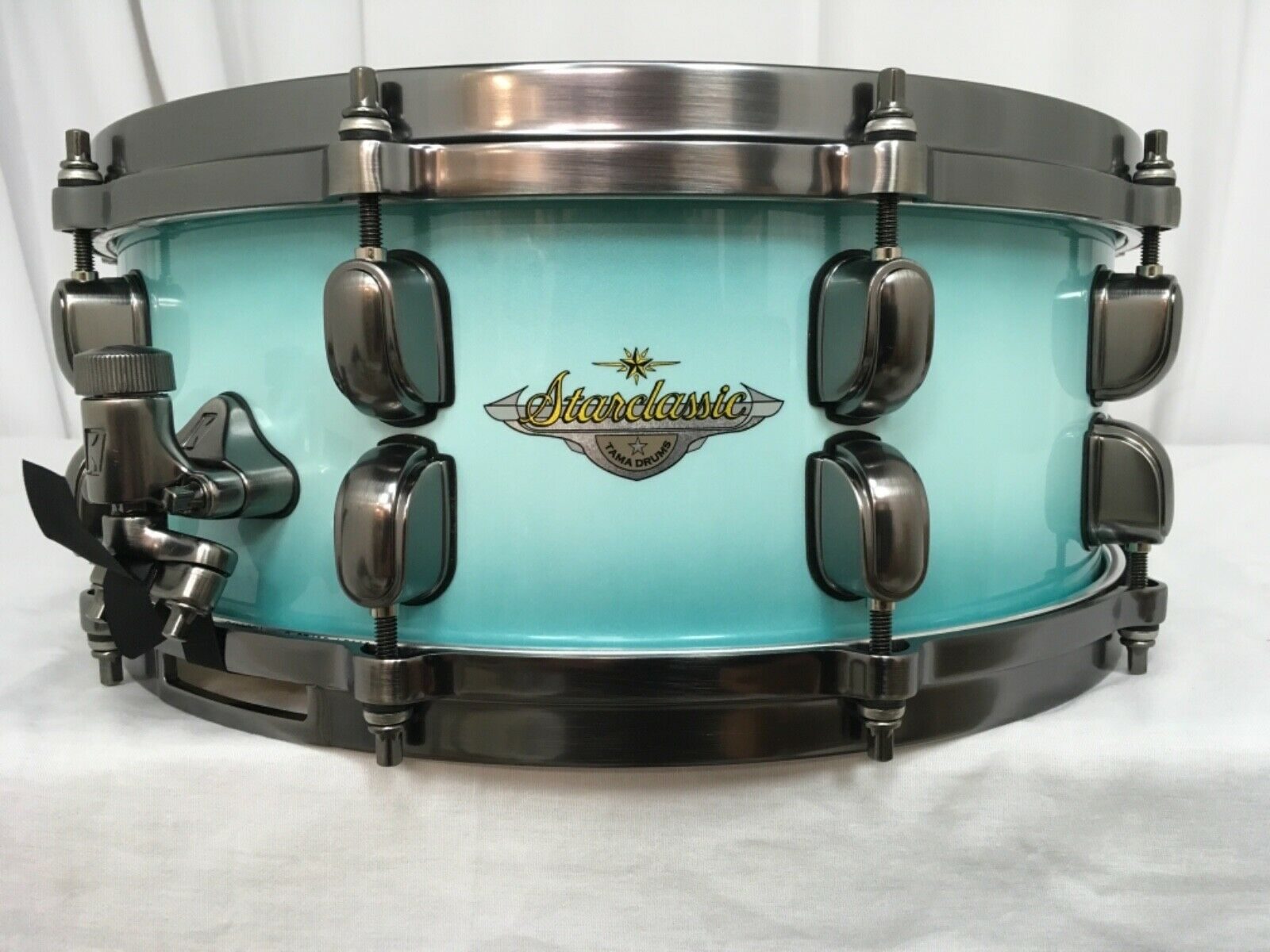 Tama Starclassic Maple 14  Dia. X 5.5  Snare Drum Light Jade Burst MAS1455ULJB