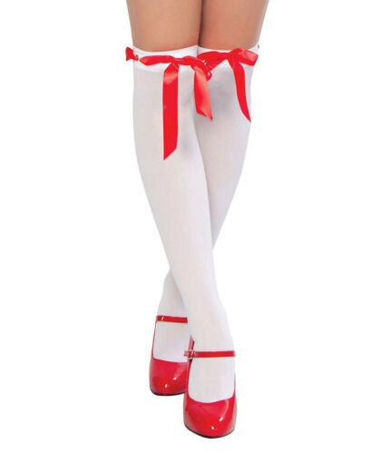 New Roma Costume STC211 Thigh High Ribbon Weave W//Eyelet Stockings