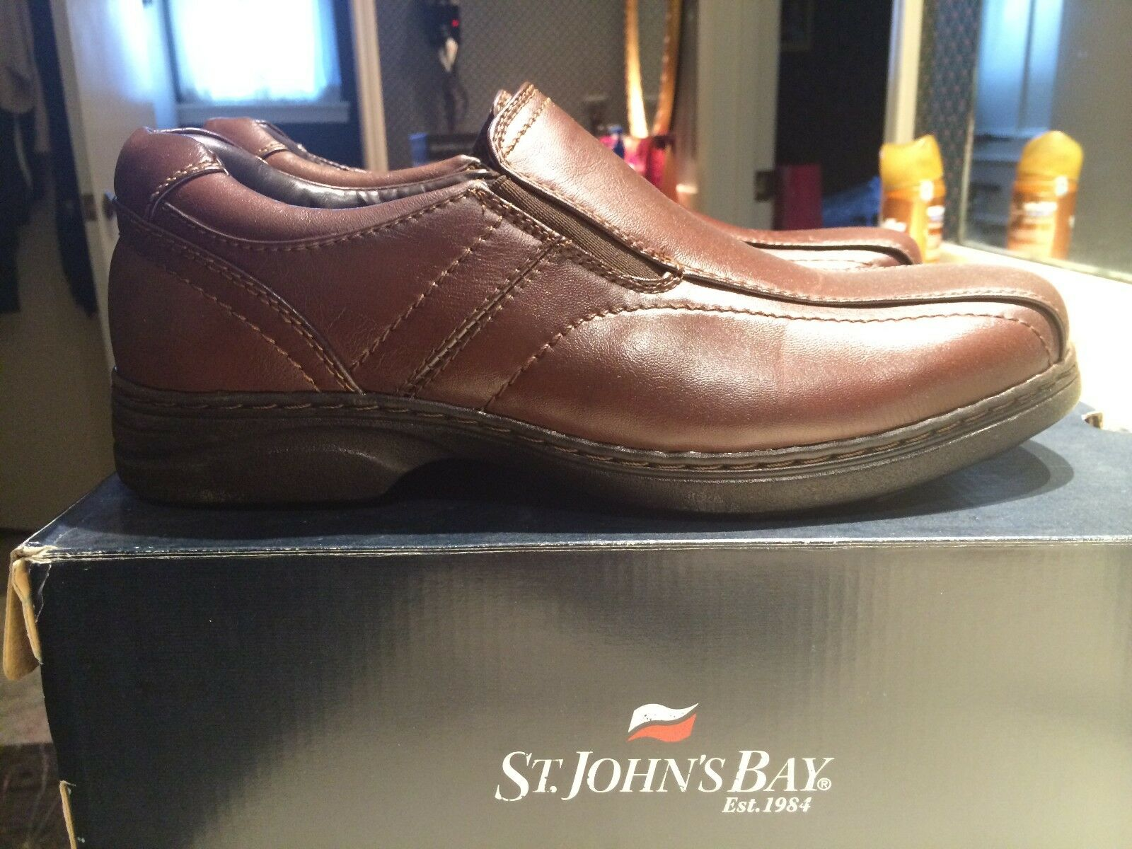 St. John's Bay mens brown leather shoes