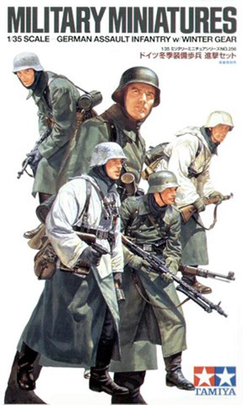 Tamiya Military Miniatures 1 35 German Assault Infantry Winter  Job Lot(10 kits)