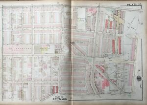 ORIGINAL 1923 G.W. BROMLEY, PHILADELPHIA, PA, OGONTZ THEATRE, ATLAS PLAT MAP