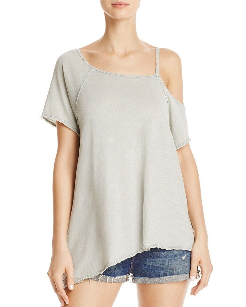 FREE PEOPLE One Shoulder  Sexy Coraline Mint Top Women Blouse Casual Top S Small