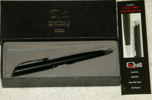 QUILL 510 TWIST RT BLUE INK BALLPOINT PEN MEDIUM POINT GIFT BOX W// PROMO LOGO