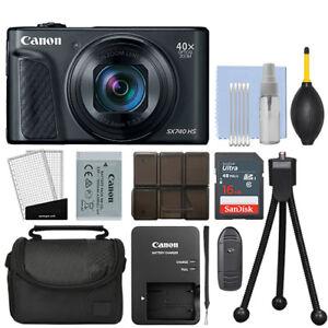 Canon Powershot Sx740 Hs 20 3mp Digital Camera 40x Optical Zoom Black 16gb Kit 608410039322 Ebay