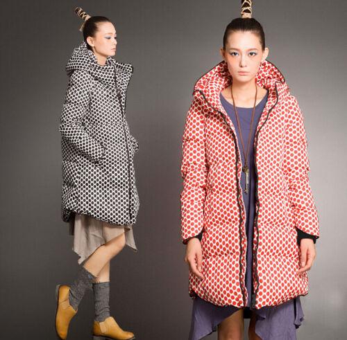 canard décontracté capuche duvet à femmes filles en hiver pardessus de long pour Parka pour FxSqRBq