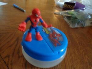 Spider-Man Toy Figure and Snack Container lot