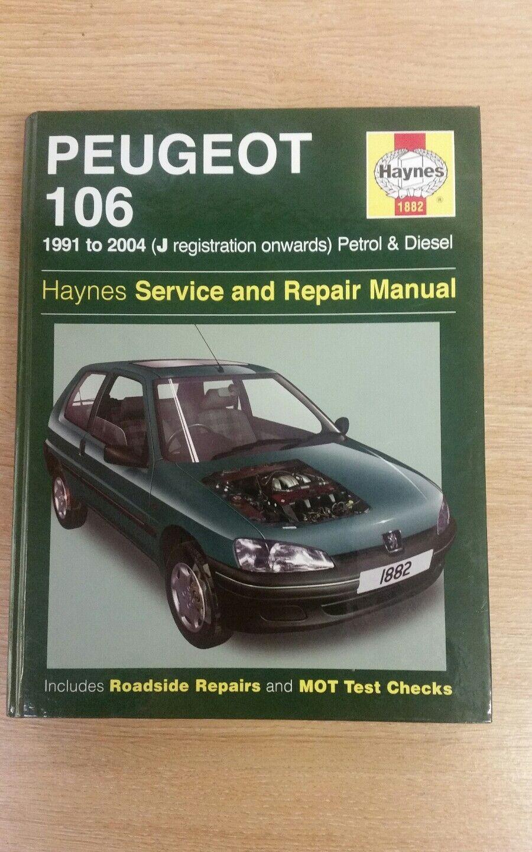PEUGEOT 106 1991-2004 PETROL DIESEL HAYNES WORKSHOP MANUAL 1882 VGC FREE  P&P | eBay