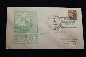 Navale-Cover-1933-Nave-Annullo-Postale-Welcome-To-Portland-U-F-Constitution