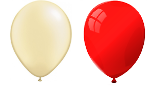 """Red and Cream Birthday Party Balloons Arch 10/"""" Wedding Multipack"""