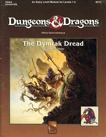DDA4 THE DYMRAK DREAD w MAP & STANDUPS VGC  Dungeons Dragons AD&D Module TSR D&D