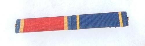 Two Place US Navy Ribbon Bar