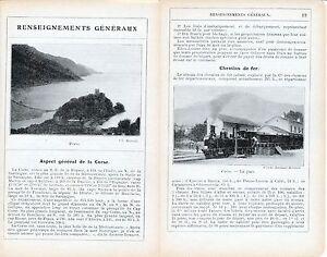 Corse-Renseignements-Generaux-1912-photos-guide-18-p-Chemins-de-Fer-Porto
