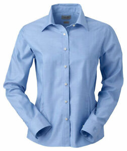 Ashworth-Women-039-s-Spread-Collar-Performance-Long-Sleeve-Woven-Shirt-7172C