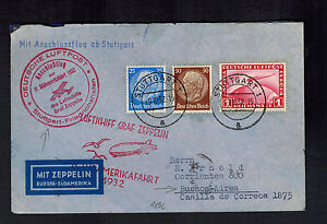 1932 Berlin Germany Graf Zeppelin Cover to Buenos Aires argentina LZ 127 8th SAF