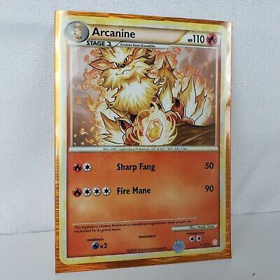 Arcanine 1//123 Holo Rare HeartGold SoulSilver Pokemon Card