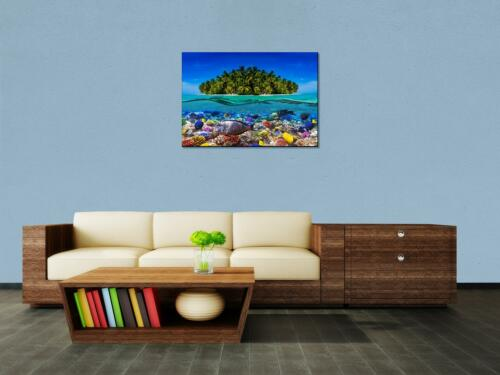 Leinwandbild Insel in der Karibik Panoramabild Kunstdrucke M0567