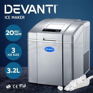 Devanti-3-2L-Portable-Ice-Maker-Commercial-Machine-Ice-Cube-Countertop-Silver