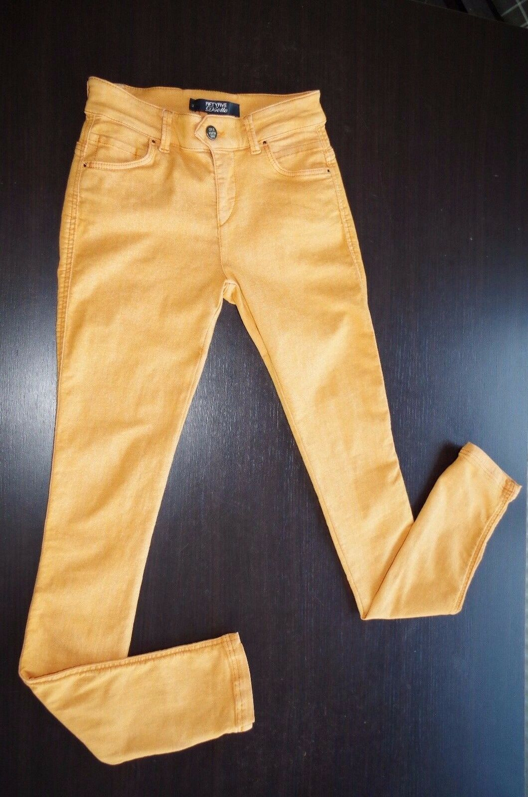 86 DIESEL sz W25 WOMENS DENIM PANTS JEANS SLIM SKINNY STRETCH RIPPED NEW orange