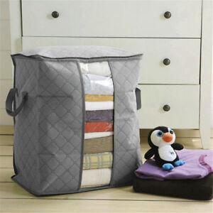 Kleidung-Kissen-Steppdecke-Bettwaesche-Aufbewahrungstasche-Kasten-Etui-Tasche-AB