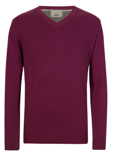 Jumpers Clothing M&S Mens Pure Cotton V Neck Jumper