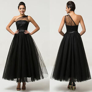 Vintage Long Formal Ball Bridesmaid Evening Gown Cocktail Prom Masquerade Dress