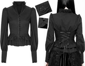 Broderie Punkrave Collerette Victorien Volants Chemise Corset Lolita Gothique CXWqS