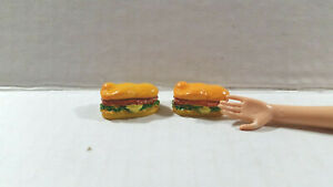 Miniature Kitchen Foods Cream Puffs Cake Plate and Coffee Cups for Barbie 1:6 aa