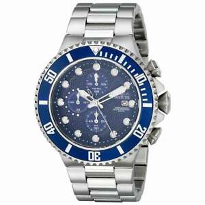 Invicta-Men-039-s-Watch-Pro-Diver-Chronograph-Blue-Dial-Steel-Bracelet-18907