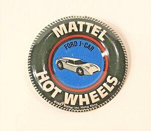 Ford J-Car Hot Wheels Redline Button 1967 HK Nice Pin