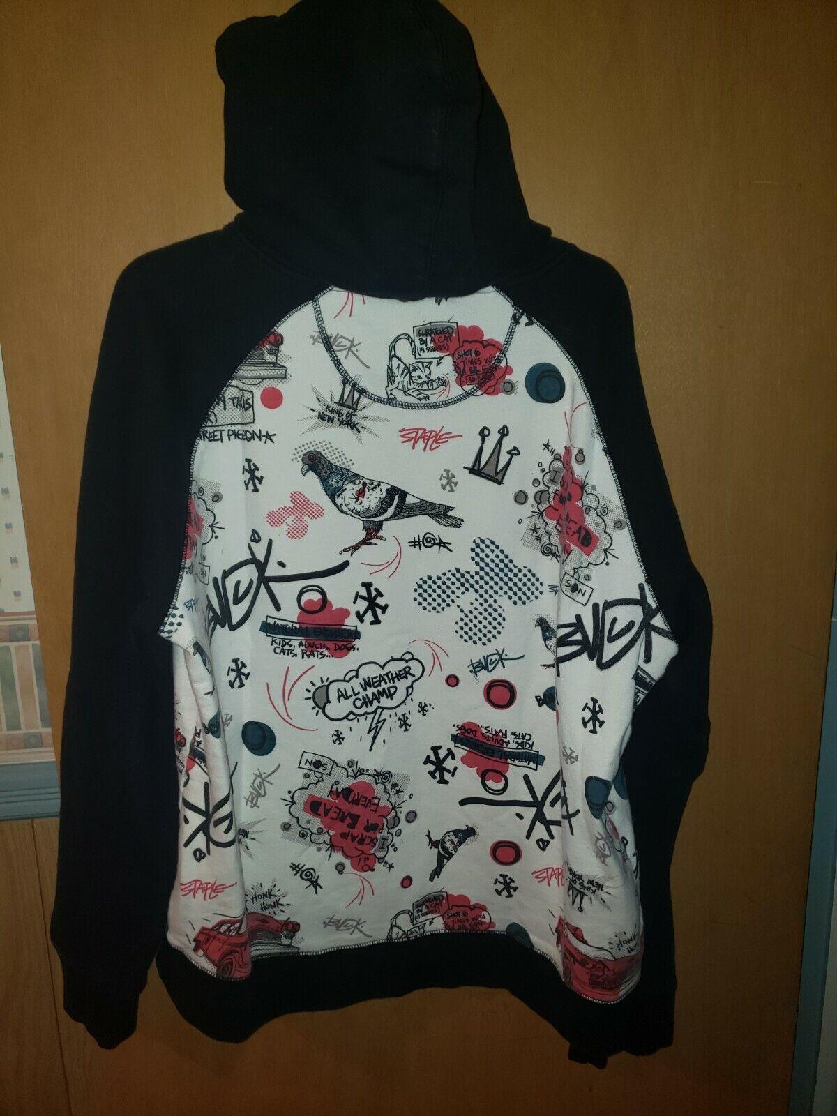 Staple X Buck hoodie - Size XL - White/Black - image 3