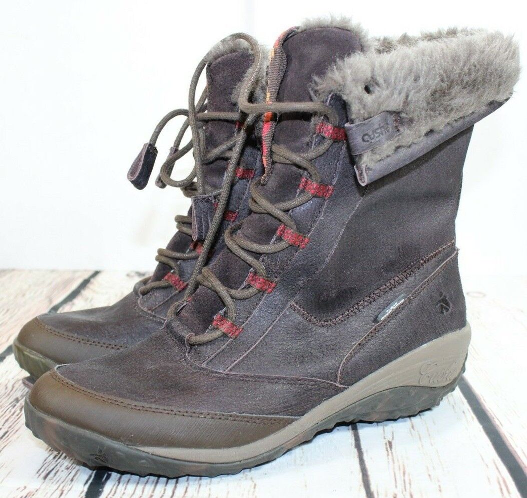 Womens CUSHE ALLPINE CONE Insulated Winter Boots Sz 10 US Brown EUC H1
