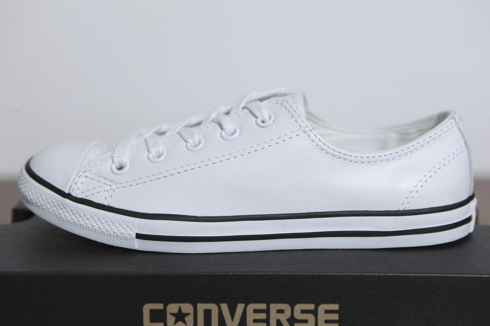 Zapatos promocionales para hombres y mujeres Neu Converse Chucks All Star Dainty low Damen Sneaker Leder 537108c