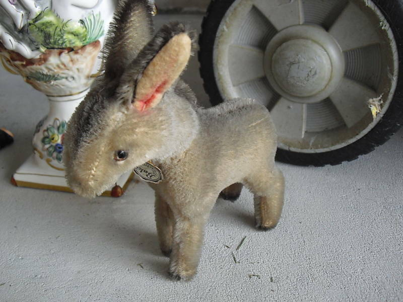 RARE Vintage BAKI Germany Mohair Donkey with Tag