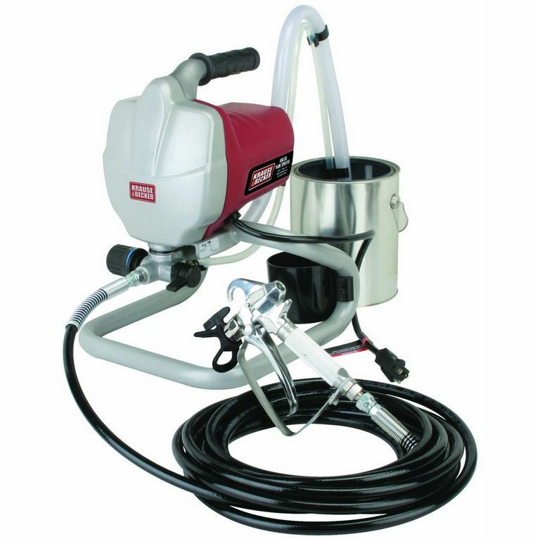5/8 HP Lightweight Steel 3000 PSI Home Airless Indoor Outdoor Paint Pump Sprayer
