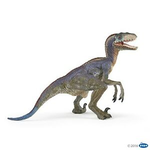Papo-55053-Velociraptor-blau-17-cm-Dinosaurier
