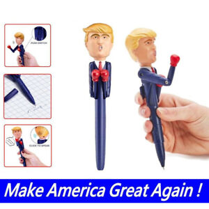 Novelty-Donald-Trump-Pen-Stress-Relief-Talking-Boxing-Pen-Trump-039-s-Real-Voice-Toy