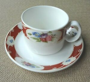 Royal-Doulton-Vermilion-Flat-Cup-and-Saucer-Set