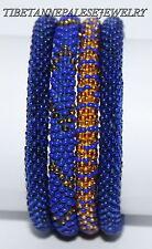 Nepal Bracelet glass Seed Bead Roll On Bracelet 4 handmade bracelet Yoga SET20