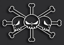 One Piece Blackbeard Flag Funny Anime Vinyl Window Decal Car Truck Laptop