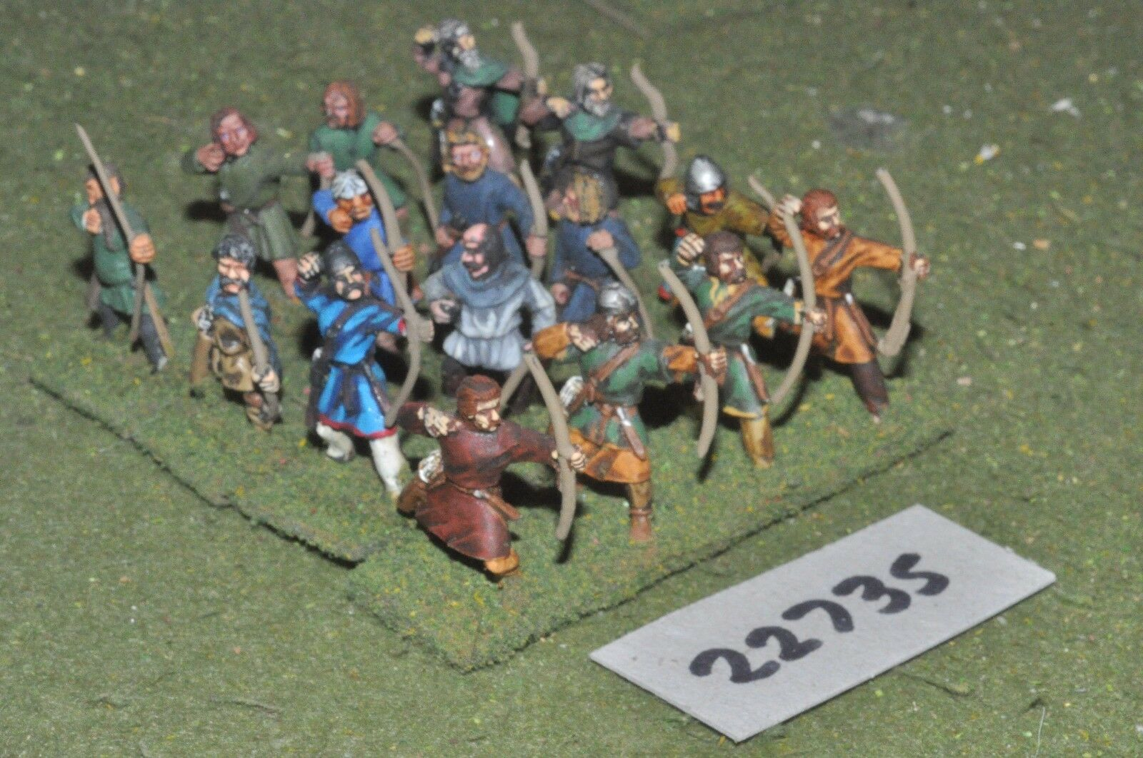 25mm dark ages   anglo saxon - archers 16 figs inf - inf (22735)