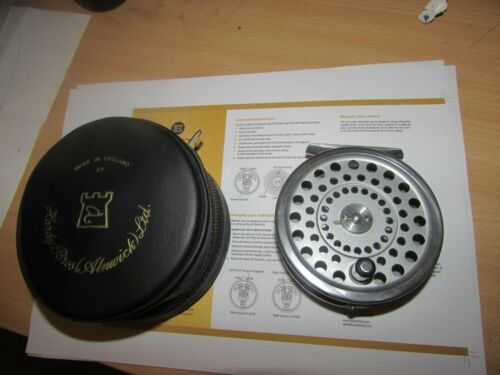 V Good Vintage Hardy Alnwick Marquis 8/9 Trout Fly Fishing Reel   étui.;[