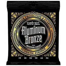 ERNIE BALL ALUMINIUM BRONZE ACOUSTIC GUITAR STRINGS 12 - 54 2566