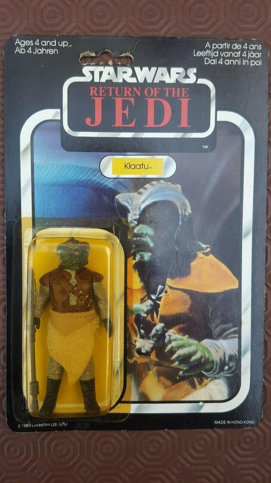 Star Wars Klaatu Return of the Jedi ROTJ 65 Back MOC Palitoy Jabba