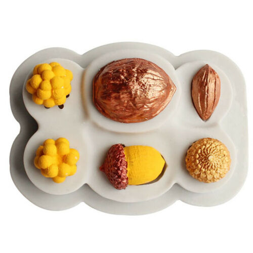 Nuss Silikonform Fondantform Schokoladenform Backen Kuchen Dekorieren Moul CL