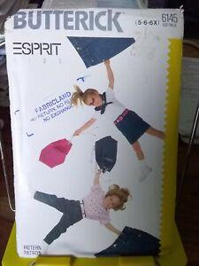 Oop-Butterick-Esprit-6145-girls-jeans-skirt-sz-5-6x-NEW